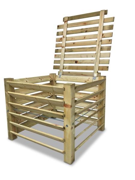 stabiler Holz-Komposter mit Deckel