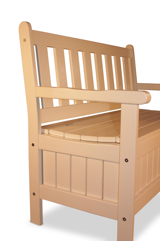 stabile bank aus holz mit truhe wei b114 x t56 x h89 cm gartendepot24 gmbh. Black Bedroom Furniture Sets. Home Design Ideas