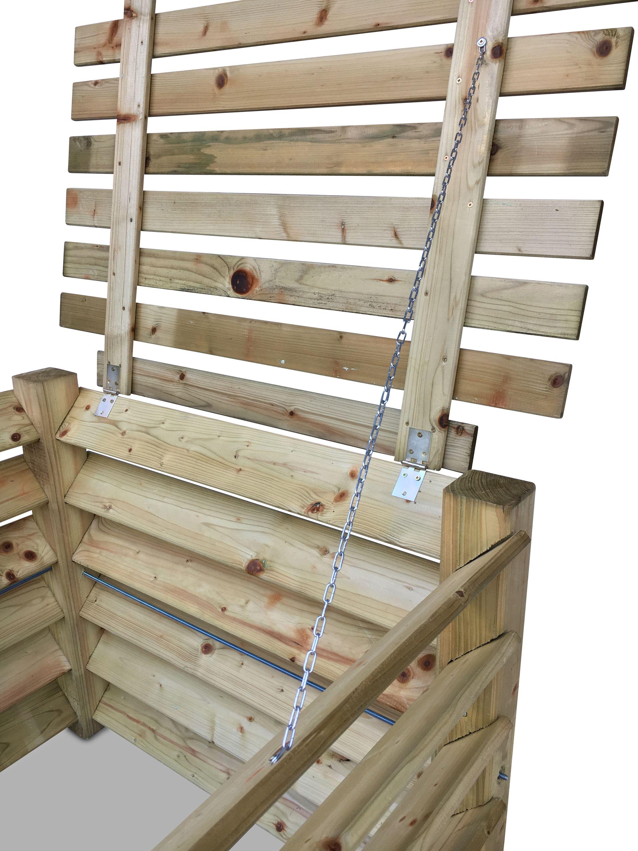 Stabiler Holz Komposter Mit Deckel Gartendepot24 Gmbh