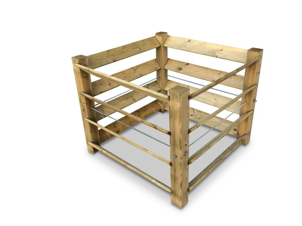 stabiler Aktions-Komposter aus Holz ca. 650 L