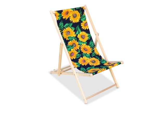 Liegestuhl Sonnenblumen
