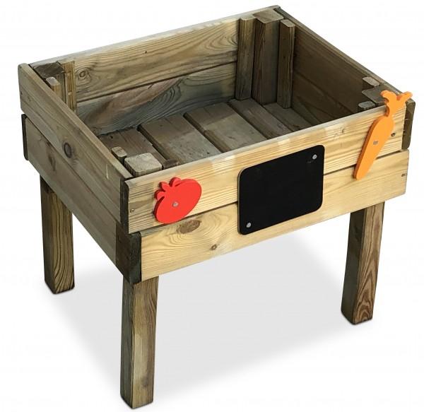 Hochbeet Frühbeet aus Holz für Kinder B50 x T40 x H45 cm