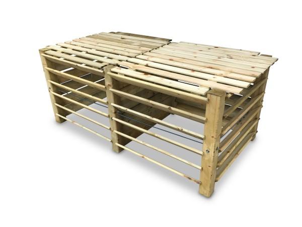 stabiler Doppel-Komposter aus Holz ca. 1300 L