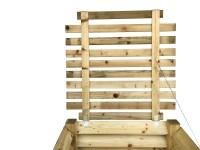 stabiler Deckel für Holz-Komposter 100x100 cm