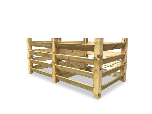 stabiler ECO Doppel-Komposter aus Holz ca. 1300 L