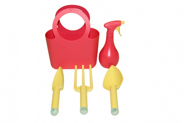 Kunststoff Gartengeräte Set - 5-teilig in strawberry rot