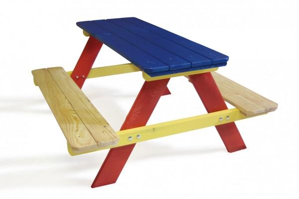 Kinderpicknicktisch aus Holz mehrfarbig