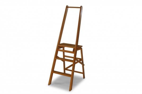 Tritt Hocker Leiter aus Holz B40/27 x T58 x H128 cm